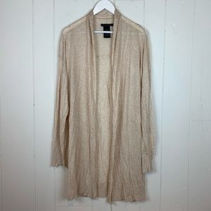 Grace Elements Flyaway Cardigan Sweater XL Tan